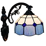 Fabakira Tiffany Retro Wandleuchte Lamp Set Lampenschirm Glas für Home Bar Cafe Shop Dekoration