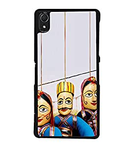 Puppets hanging with Strings 2D Hard Polycarbonate Designer Back Case Cover for Sony Xperia Z3 :: Sony Xperia Z3 Dual :: Sony Xperia Z3 D6633