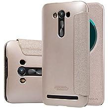 """MYLB PU funda case cubierta cover para Asus Zenfone 2 Laser ZE550KL 5.5"""" smartphone (Champagne oro)"""