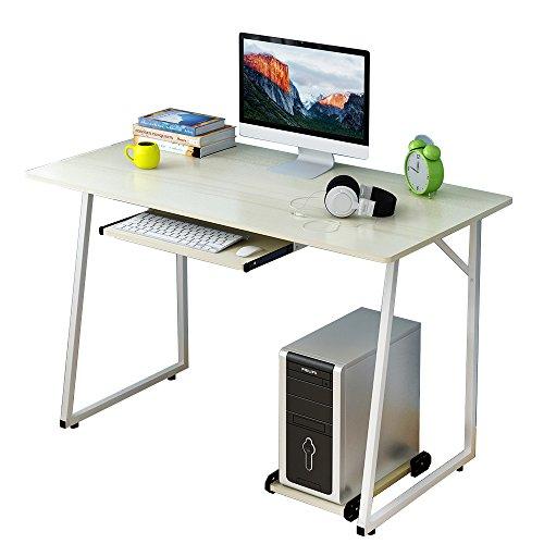 Soges-Escritorio-de-120x60cm-Mesa-de-Ordenador-Mesa-Compacta-y-Fuerte-para-Casa-Escritorio-de-Oficina-para-Entrenamiento-Escritura-Escritorio-de-Trabajo-con-de-Teclado-Arce-blanco