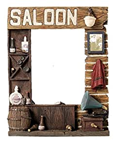 Resin cadre photo en plastique style western saloon