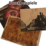 50x Vintage Kraftpapier DIN A4 250 g/m² natur-braunes Recycling-Papier, 100% ökologisch Bastel-Karton Einzel-Karte I UmWelt by GUSTAV NEUSER Vergleich