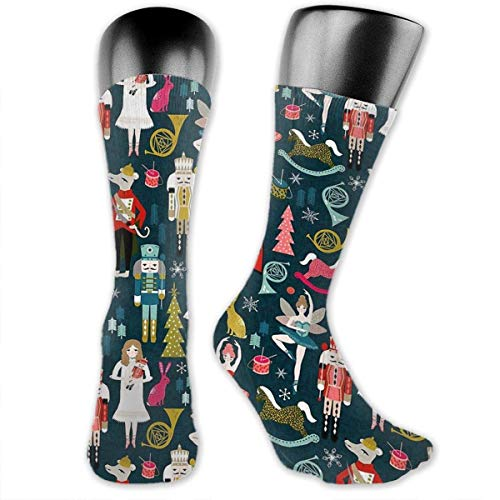 Drempad luxury calze cute nutcracker cotton casual colorful fun below knee high athletic socks