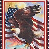Robert Kaufman Stoff mit USA-Flagge und Adler