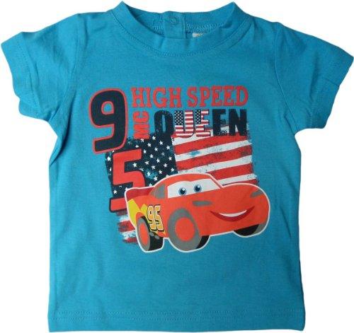 Disney Cars Baby T-Shirt - Lightning Mc Queen Hgh Speed 95 - Blau