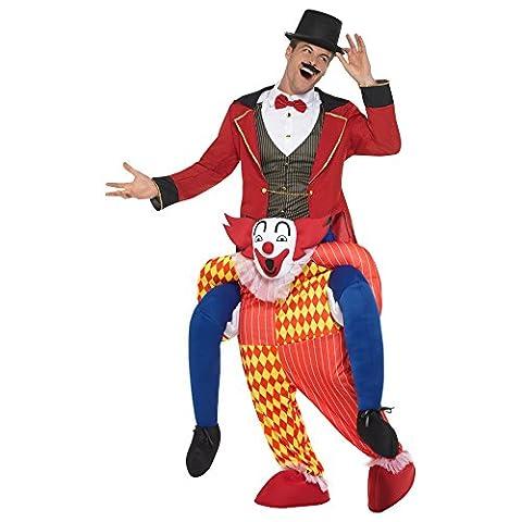 Oramics Déguisement Clown 1 Pièce Homme One Size avec Fausses Jambes Mobiles