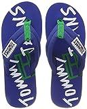 Hilfiger Denim Herren TJ Graphic Print Beach Sandal Zehentrenner, Blau (Monaco Blue 408), 43 EU