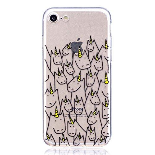 Per iPhone 7 Cover , YIGA corona imperiale Cristallo Trasparente Silicone Morbido TPU Case Shell Caso Protezione Custodia per Apple iPhone 7 (4.7) LF11