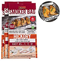 Set of 3 Hickory Smoking Bags for Indoor or Outdoor Use - Easily Infuse Natural Wood Flavor