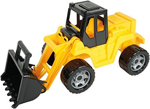 Riesen Schaufellader, Radlader ca. 64 cm, Giga Truck in gelb und schwarz, Ladeschaufel mit Bediengriff, Ladefahrzeug für Kinder ab 3 Jahre ()
