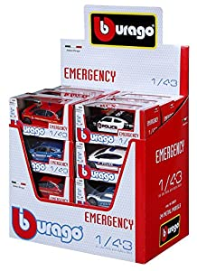 Bburago Maisto Francia 30074Street Fire Emergency-Escala 1/43-Modelo Aleatorio