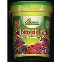 Sulfato de hierro rinverdente y musgos para césped flores plantas de 1 kg