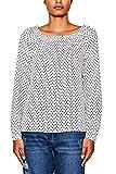 ESPRIT Damen Bluse 047EE1F002, Mehrfarbig (Off White 110), 42