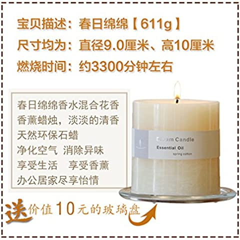 Aceite Esencial para Aromaterapia aroma natural velas grandes velas de olor, libres de humo estancia incienso velas ,9*10cm,1,9*10cm