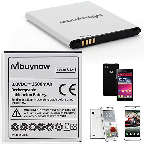 Mbuynow® 2500mAh Batterie Ersatzakku Akku Backup Battery für LG Optimus 4X HD P880/L9/F5