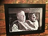 A4 framed reproduction autograph of Uncle Monty from Withnail & I aka Richard Griffiths printed on 300 gsm card with choice of frame (Black polcore frame)