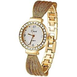 SaySure - Nice Stainless Steel Strap Crystal Luxury Women WristWatch.Fashion Atmos Clock Dress Watches.Relogio Feminino - CHA-UK-CJ-BG-000374