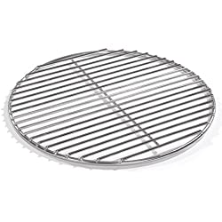 80cm barbecue ronde en acier inoxydable Baguettes, barbecue, 4mm grille V2A pour feu Bols grilles de barbecue Barbecue rond