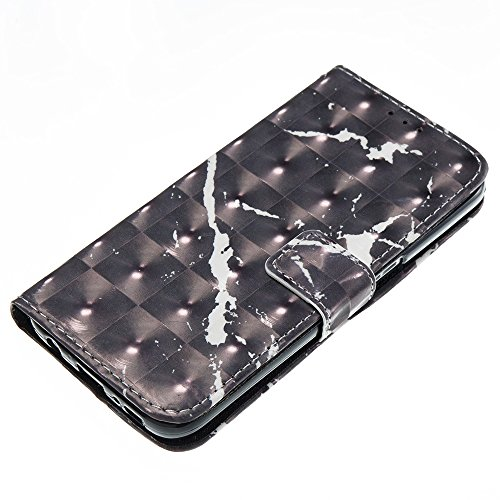 Marmor Stein Grain Texure Muster PU Ledertasche Cover, Retro Bookstyle Flip Stand Case mit Magnetverschluss & Card Slots & Lanyard für Samsung Galaxy S7 ( Color : C ) F