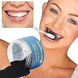 Blanchiment des dents, Malloom Poudre à grande capacité Pâte de dentifrence à base de noix de coco activée naturellement...
