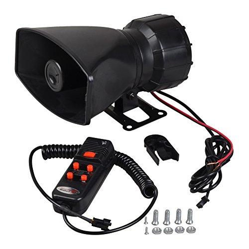 Firefly1989 ® 100 Watt Auto-Alarm-Lautsprecher Auto Motorrad Alarm Polizei Feuer Alarm Sirene, Horn) Pa-Verstärker Lautsprecher systerm MIC
