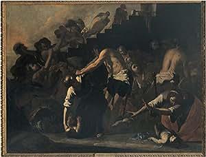WallsnArt, Figurative Modern Framed Art Work Canvas Gallery Wrap,The Massacre...