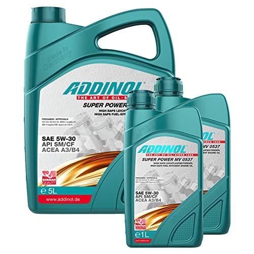 Addinol Motoröl 5W-30 Super Power MV 0537 5L + 2X 1L