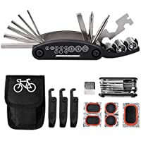 Tagvo Kit de herramientas para bicicleta, 16 en 1 Herramienta multifunción para bicicleta con kit