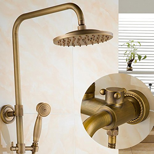 PLYY Dusche Wasserhahn Bad & Dusche Wasserhahn Set Wand montiert Messing Regen Dusche Set