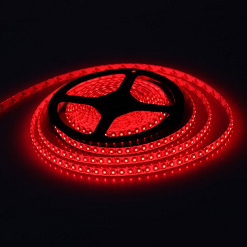 Bsod Wasserdichte LED SMD 3528 flexible Streifen 300LED 5M Hahn 12V 2A führte 24W 60 LED / M LED-Band (Rot) (Hahn 24)