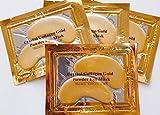 BIANCO NOIR LUXURY Bio Gold Augenpads - mit Aloe Vera, Hyaluron, Collagen - naturbelassene Feuchtigkeits spendende Anti-Aging & Anti-Falten Eye Pads gegen Augenringe & Tränensäcke 10 Paar