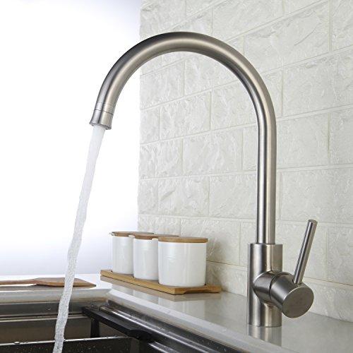 HOMELODY Wasserhahn für die Küche mit Brause