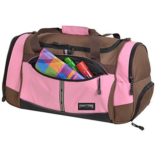 Sporttasche ADVENTURE Fitness Tasche, Sport Gym Tasche Reisetasche, 40 Liter Braun Pink