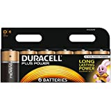 Duracell MN1300 Plus Power D Size Batteries--Pack of 6
