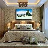 Ganjue Decoración Para El Hogar Impresiones Pintura 1 Panel Costa Del Mar Paraíso Tropical Playa Océano Isla Barco Imágenes Dormitorio Lienzo Cartel Arte De La Pared A10536 40x60cm