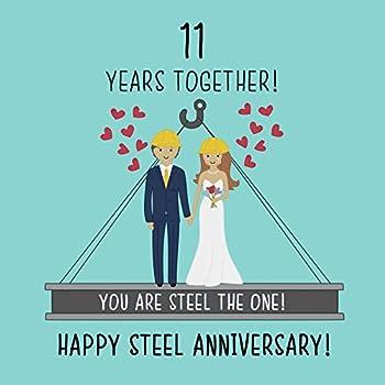 11th Wedding Anniversary Card   Steel Anniversary