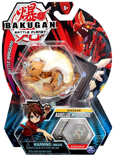 BAKUGAN, Aurelus Hydorous, 2-inch Tall Collectible Transforming Creature, for Ages 6 and Up