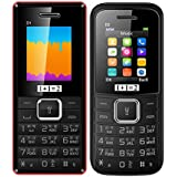 Combo Of TWO Mobiles KECHAODA ONEANTWO (1+1=2) D1(Black Red)+ D2(Black) 1.8 Inch, Dual SIM With 1200 MAh Battery, Bluetooth,FM, Highlighted Torch, Vibration Feature And 1 Year Manufacturer Warranty