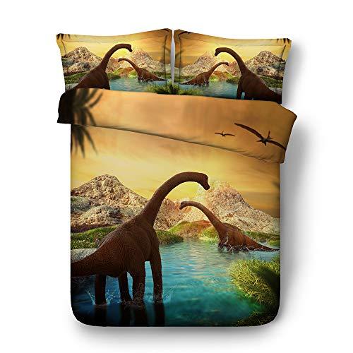Sticker superb 3D Dinosaurio Niño Hombre Ropa Cama