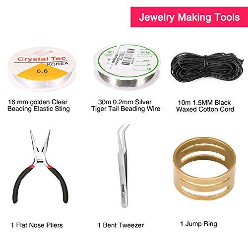 ARTISTORE Kit de Fabricación de Joyas Kit de Accesorios de Joyería Joyería Artesanía Material- Herramientas de Reparación de Joyas con Accesorios, Hilos y Hilos de Abalorios