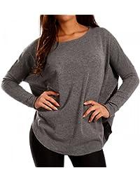 Damen Pullover Strickpullover Oversized Look