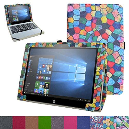 Schutzhülle für HP Pavilion X2 12 (12 Zoll) HP Pavilion x2 12 12-b020nr 12-b010nr Windows 10 Tablet 2016, Buntglas