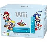 Console Jeu Wii Bleu + Jeu Mario & Sonic aux jeux olympiques de Londres 2012+ 1télécommande Wii Plus + Nunchuk bleu + 1manette Nunchuk bleu + Wii Motion Plus–Blanc