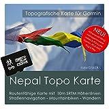Nepal Garmin Karte TOPO 4 GB microSD. Topografische GPS Freizeitkarte für Fahrrad Wandern Touren Trekking Geocaching & Outdoor. Navigationsgeräte