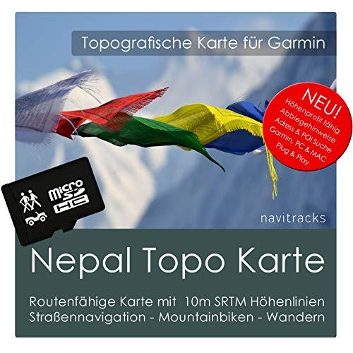 Nepal Garmin Karte TOPO 4 GB microSD. Topografische GPS Freizeitkarte für Fahrrad Wandern Touren Trekking Geocaching & Outdoor. Navigationsgeräte, PC & MAC Garmin Rino Auto