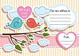 We've got a new nest! Moving Home Card, pack of 16, Cute Bird Design, UK Made (With envelopes)