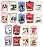 18 x Official Yankee Candle Flower Shop Floral Fragrances Votive Sampler Candles