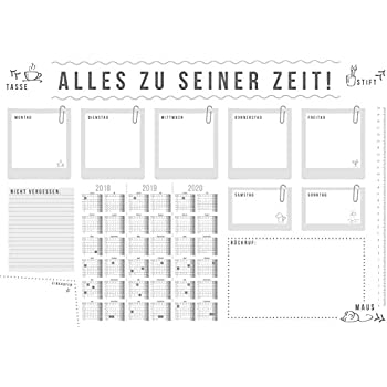 fournitures de bureau 1 bloc sous main avec calendrier m tre ruban carnet note et dessin. Black Bedroom Furniture Sets. Home Design Ideas