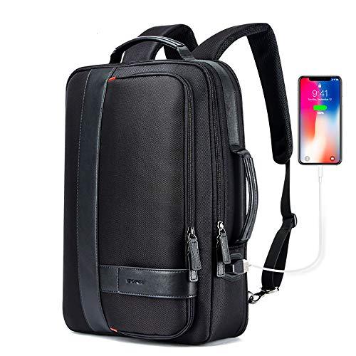 ac53d1ceb4 LBB Zaino per Uomo d'Affari Nero USB Carica Sicurezza Ufficio Impermeabile  Ultra-Sottile