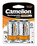 Camelion 17010220 Akku (NiMH, Mono, R20 (D), 10000 mAh, 2er-Pack)